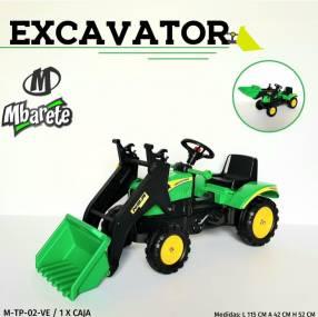 Tractor a pedal excavador