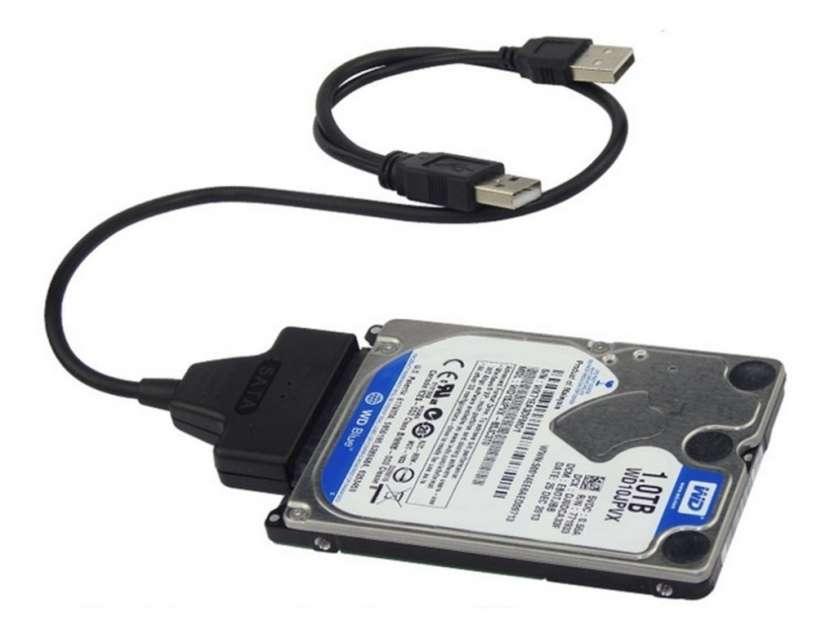 Adaptador usb 2.0 a sata 2.5 ssd o disco nb - 1