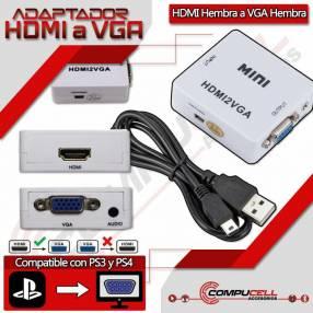 Adaptador HDMI a VGA compatible con PS3 y PS4