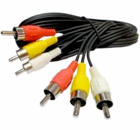 Cable de audio y vídeo cable compuesto 3 RCA a RCA AV para TV, DVD, VCD