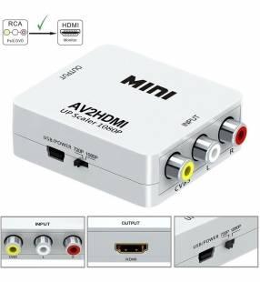 Conversor de 3 rca a hdmi 1080P mini AV2HDMI