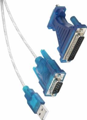 Conversor usb a serial macho 25 pines db25 d-sub-plug 9-pin d-sub plug 25-pin