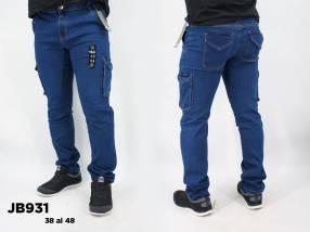 Jeans hombre carpintero elastizado JB931