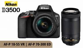 Cámara Nikon D3500 Kit 18-55mm + 70-300mm