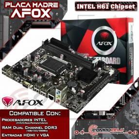 Placa Madre AFOX H61 Motherboard para procesadores Intel