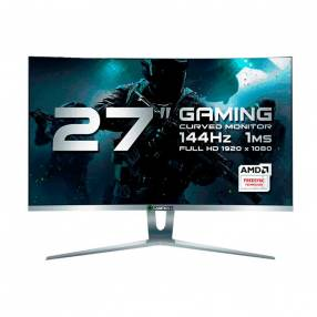 Monitor curvo 27 pulgadas Gamemax GMX27C144 FHD 144HZ 1MS blanco