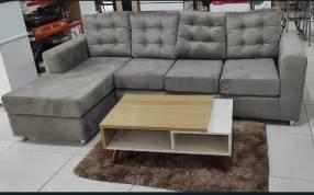 Sofa atyra 3 lugares + chaise um (4205)