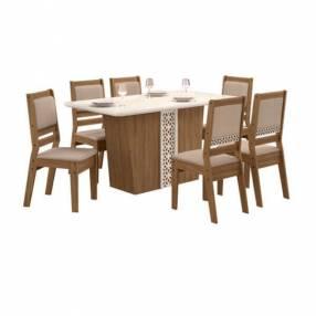 Conjunto Lotus 6 sillas cedro GOLD51C Celta