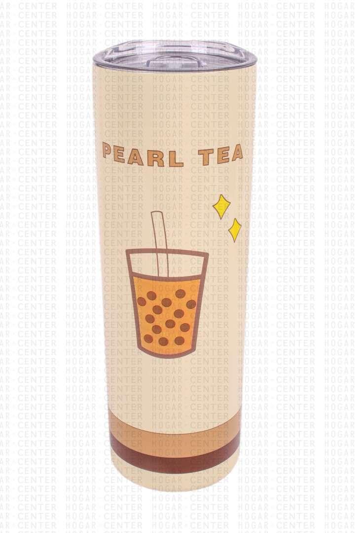 Vaso de Acero Inoxidable con Pajita - 0