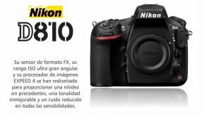 Cámara Nikon D810 Cuerpo