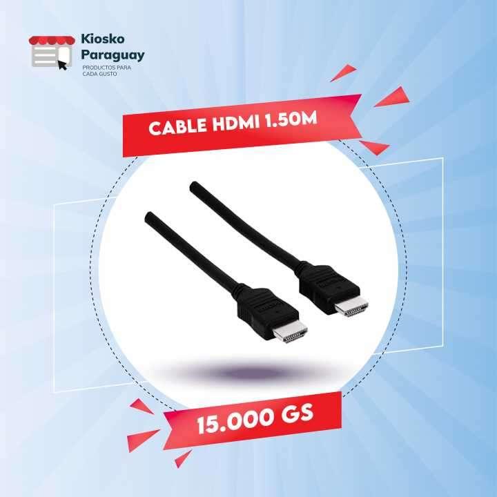 Cable HDMI 1.50 metro microfins negro - 0
