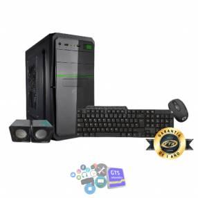 Gabinete kit ftx5843 500w+ mouse+ teclado multimedia+ speaker/ led verde/ español