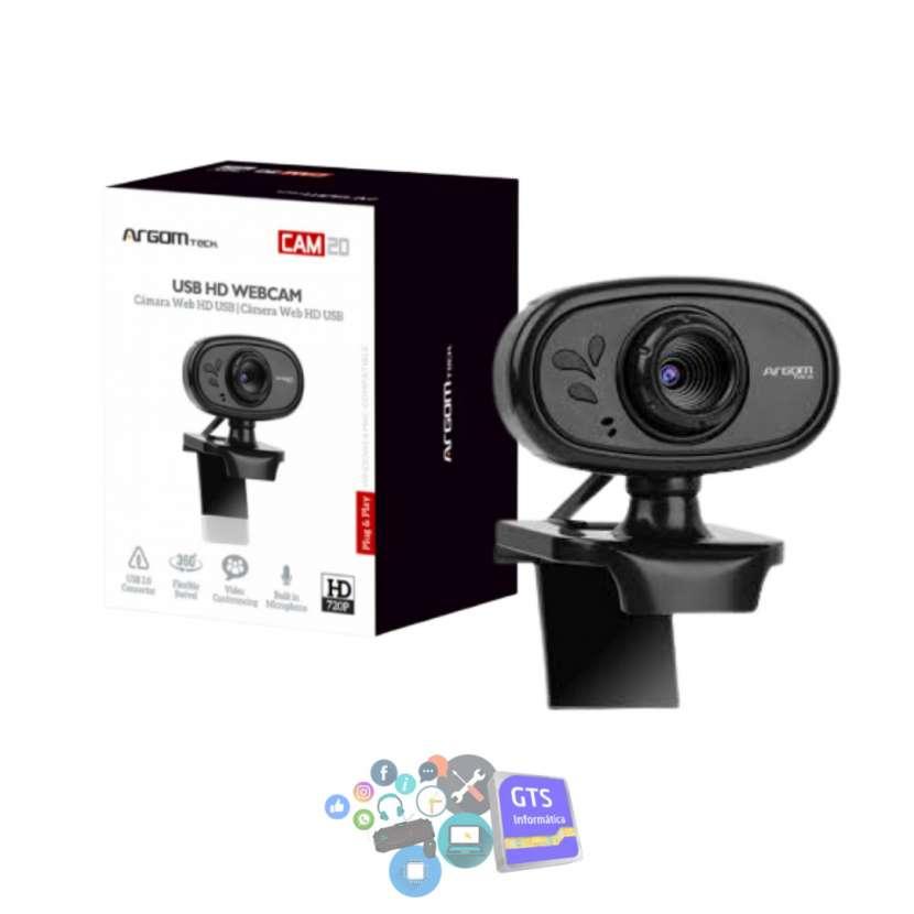 Webcam Argomtech WC-9120BK HD 720p con micrófono - 0