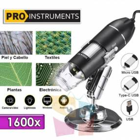 Microscopio digital de 1600X con conexión a celular y PC