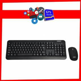 Teclado inalambrico + mouse wireless ak-725g 2.4ghz