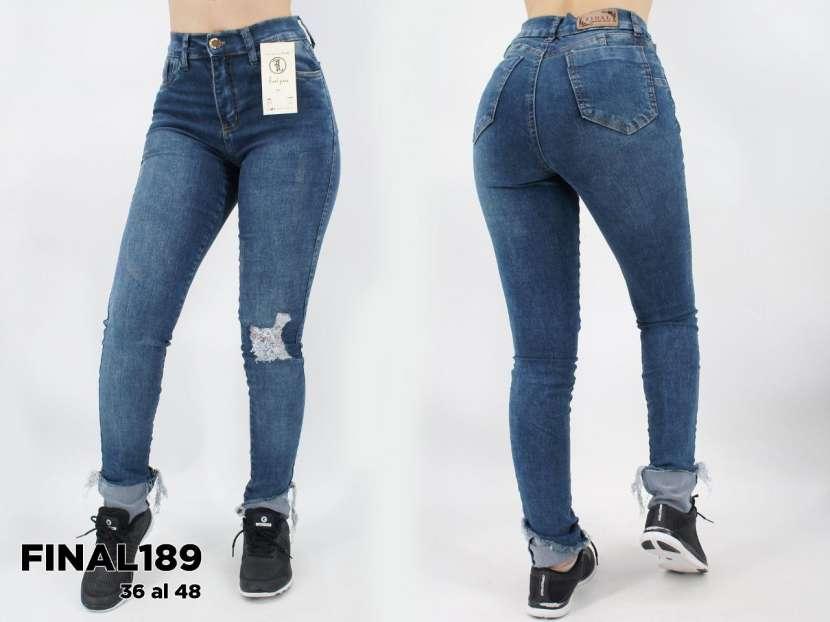 Jeans para dama rasgado elastizado FINAL189 - 0