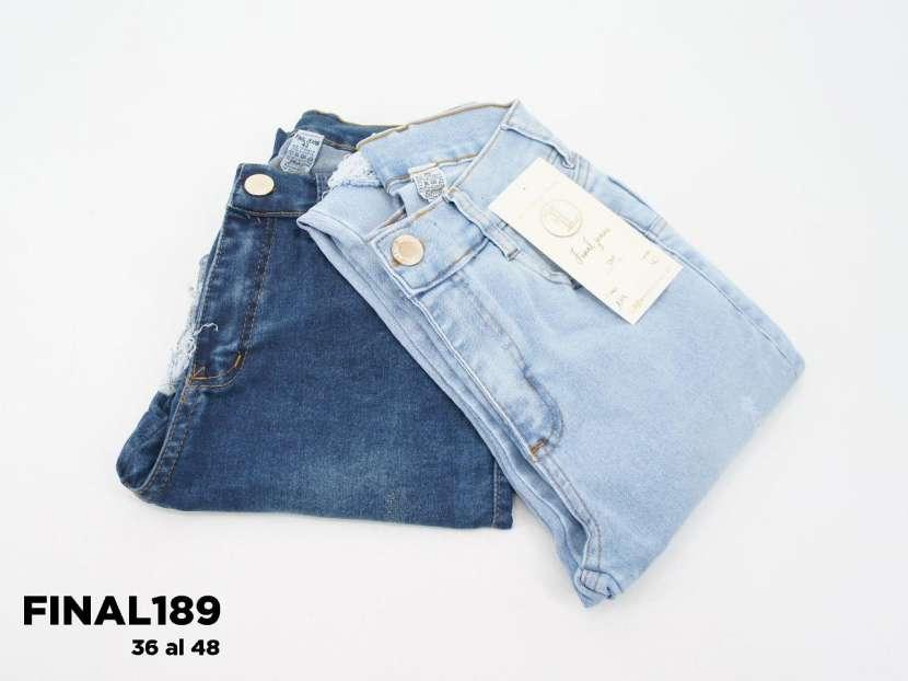 Jeans para dama rasgado elastizado FINAL189 - 1