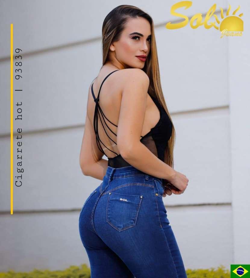 Jeans brasilero con botón en el tobillo doblado SOL93839 - 2