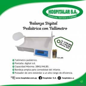 Balanza digital pediátrica con tallímetro