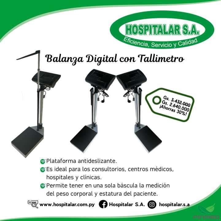 Balanza digital con tallímetro - 0