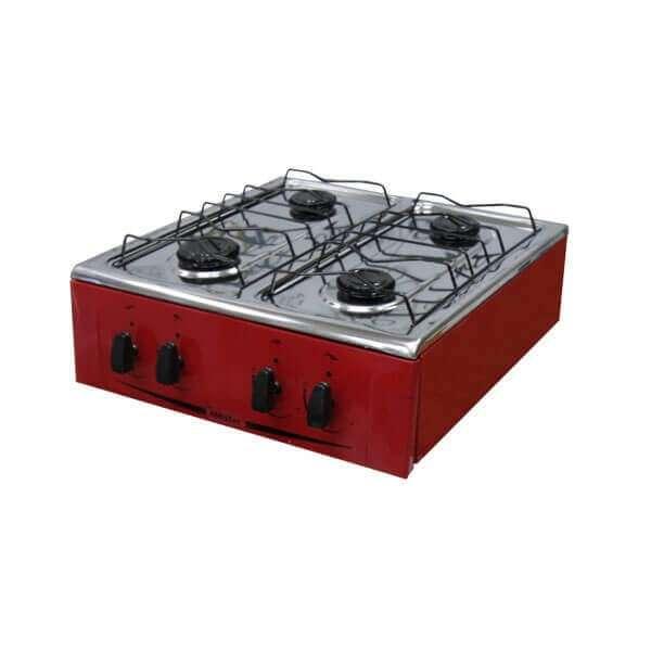 Cocina 4 hornallas mini Abbatec Abba negro de mesa (3384) - 0