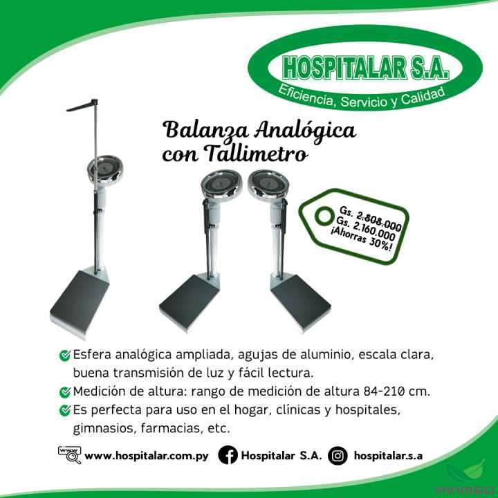 Balanza analógica con tallímetro - 0