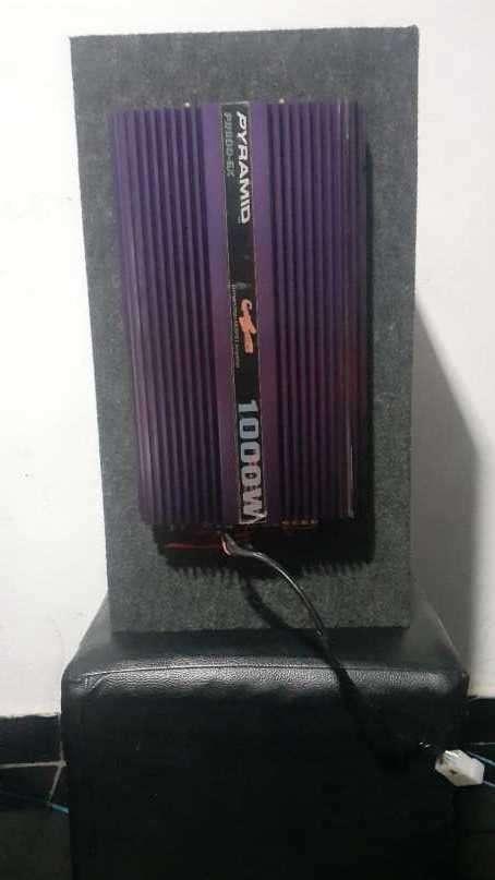 Caja trío con amplificador de 1.000W - 2