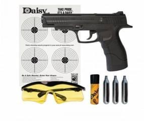 Pistola CO2 4,5mm más accesorios