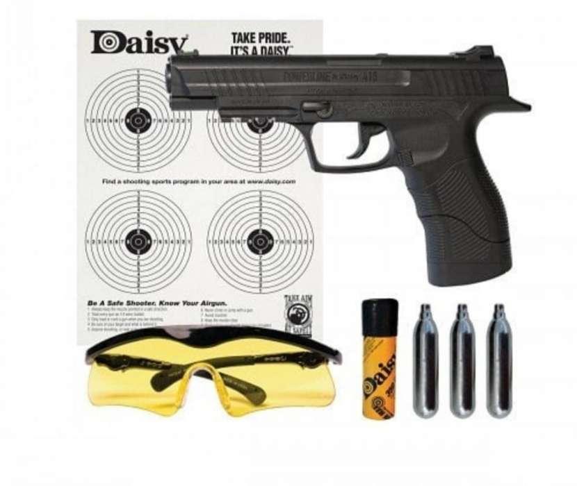 Pistola CO2 4,5mm más accesorios - 0