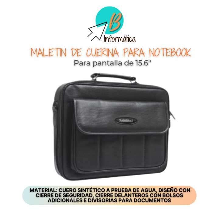 Maletín para notebook de cuero sintético Sate 15.4 pulgadas - 0