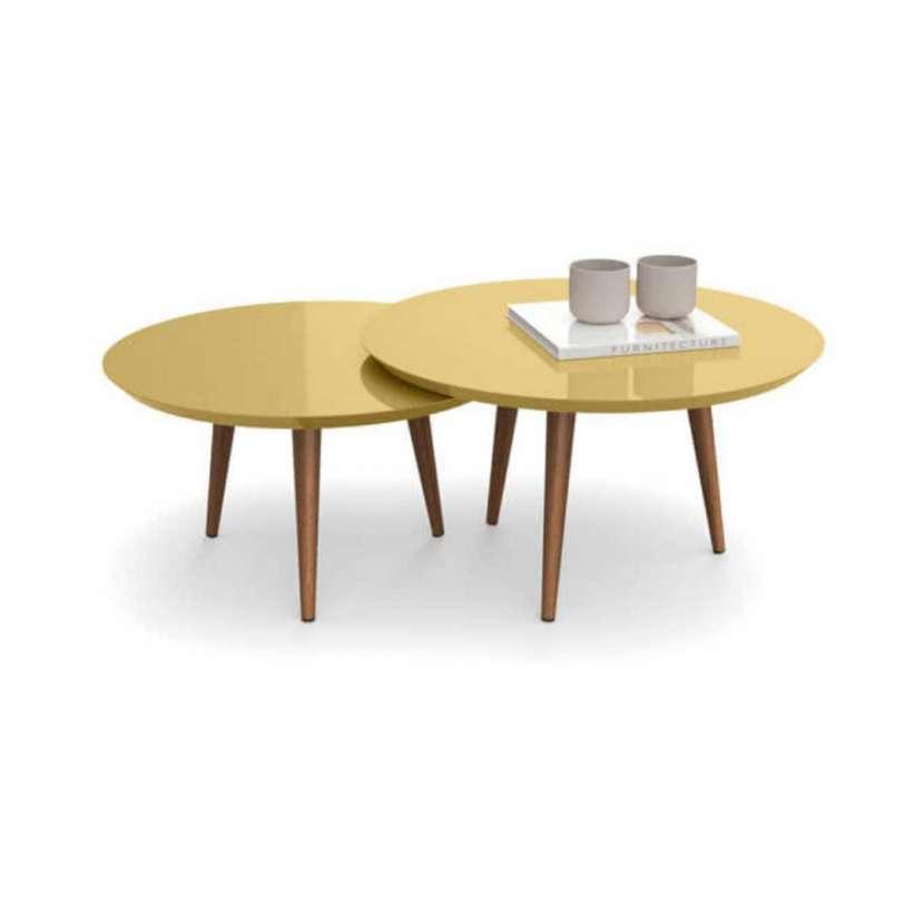 Conjunto mesa centro Luna Patrimar dorado 30472 - 1