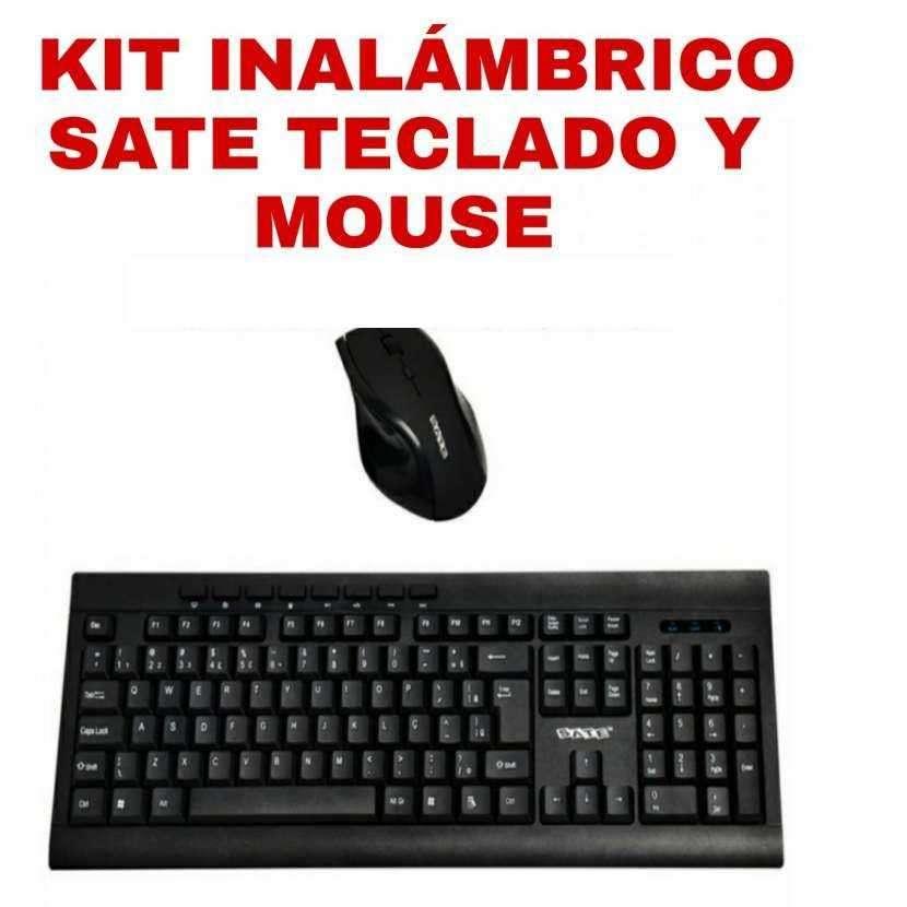 Kit teclado y mouse inalámbrico Sate - 0