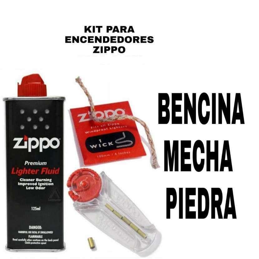 Bencina mecha y piedra para encendedores Zippo - 0