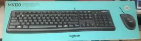 Teclado con mouse Logitech MK120