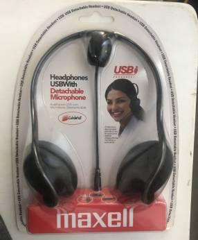 Audífonos Maxell con micrófono desmontable