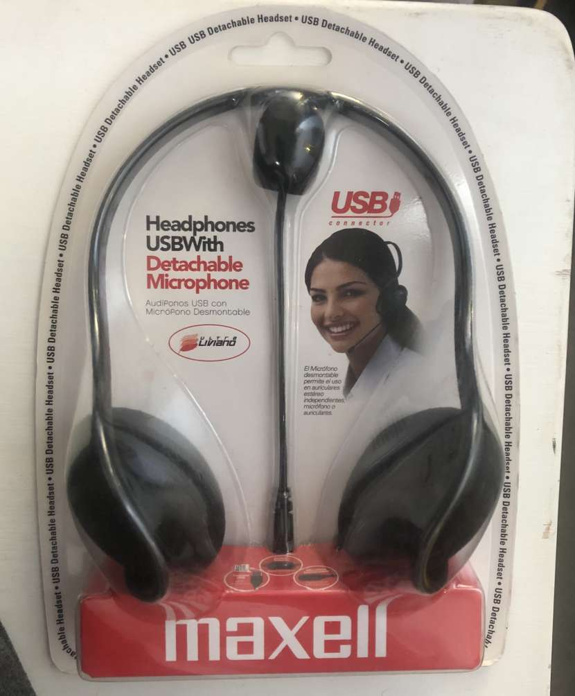 Audífonos Maxell con micrófono desmontable - 0