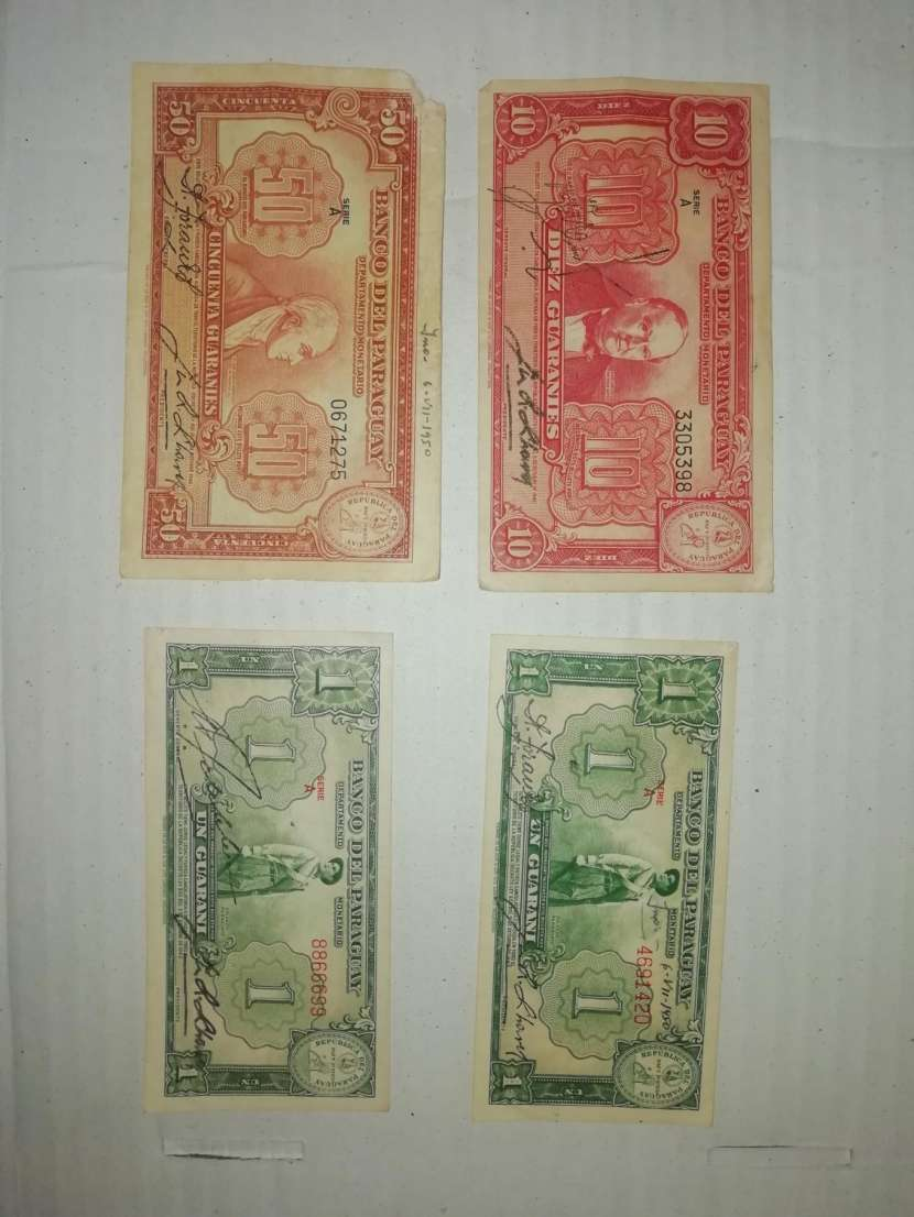 Billetes y monedas antiguas - 0
