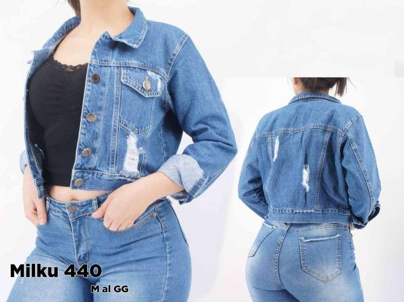 Campera de jeans con roturas MILKU440 - 0