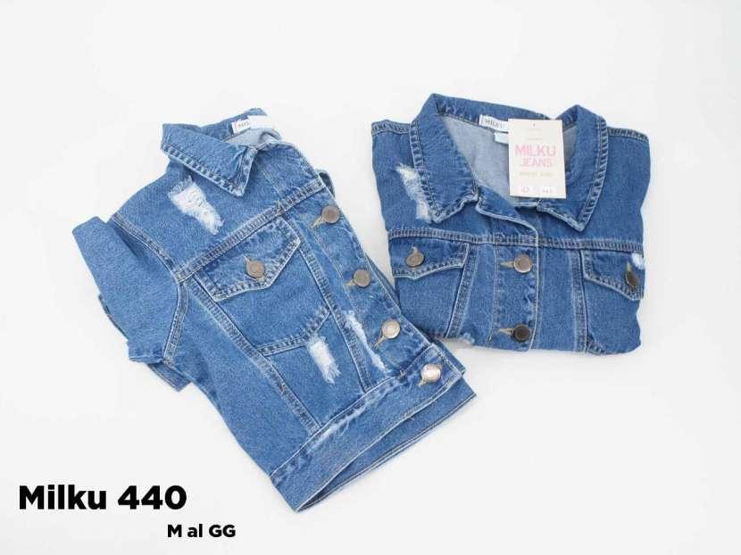 Campera de jeans con roturas MILKU440 - 1
