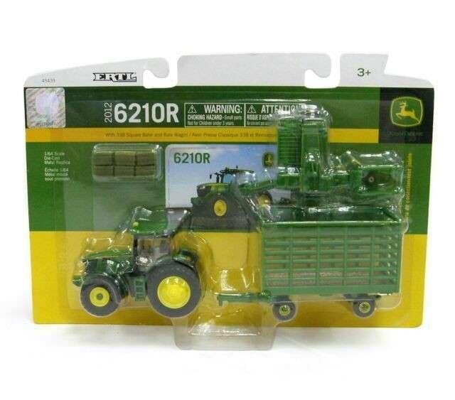 Tractor 6210R con embaladora John Deere - 1