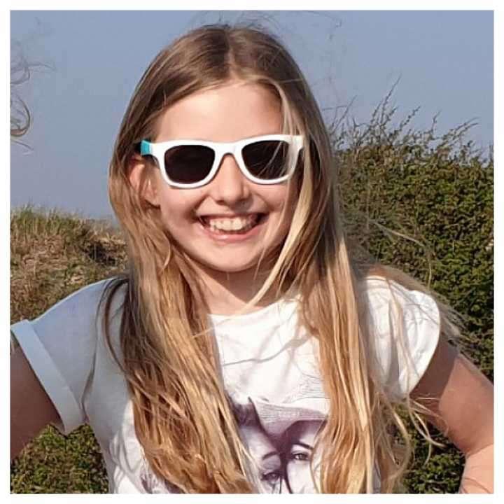 Lente de sol para niños Koolsun Wave blanco-aqua 1 a 5 años - 2