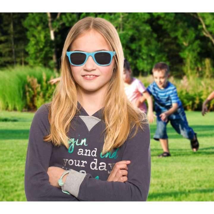 Lente de sol para niños Koolsun Wave azul cendre 1 a 5 años - 3