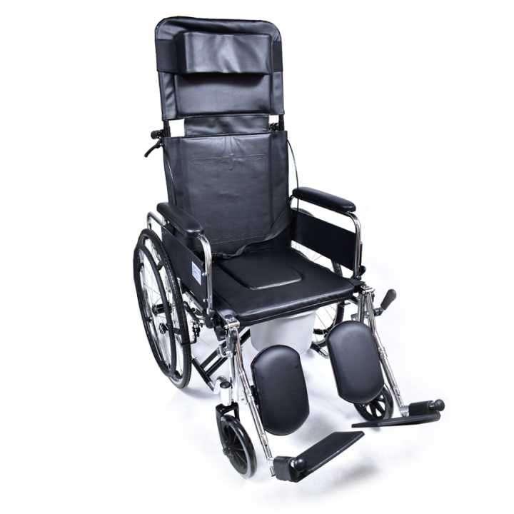 Silla de ruedas c/ respaldo reclinable - 0