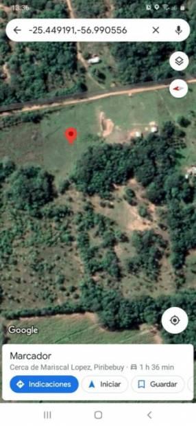 Terreno de 2 hectáreas zona Piribebuy