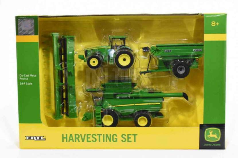 Set de cosechadora tractor y carreta Jhon Deere 3 en 1 - 1