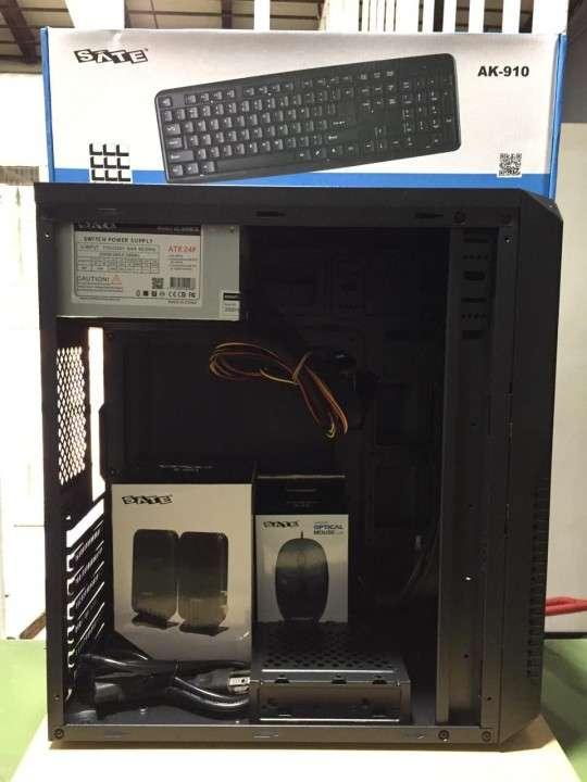 Combo gabinete Sate K761 con teclado mouse parlante y fuente - 2