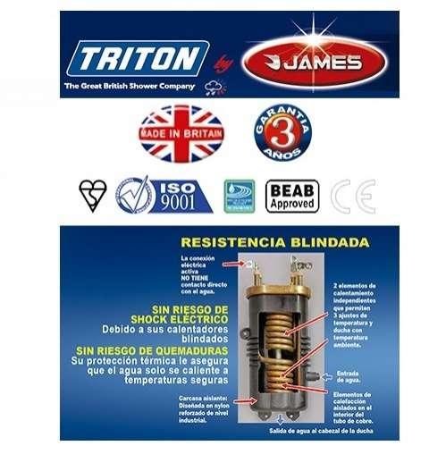 Termoducha instantáneo James Triton T70ZE - 3
