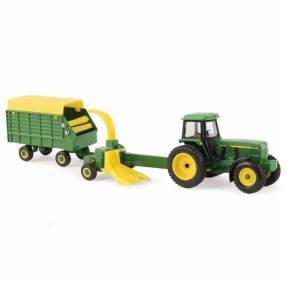 Tractor John Deere 4960 con picadora de forraje