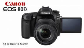 Cámara Canon EOS 80D Kit 18-135mm