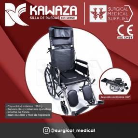 Silla de ruedas c/ respaldo reclinable